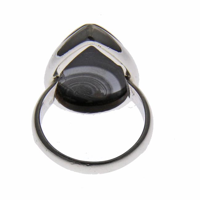 Design 21195: black agate rings