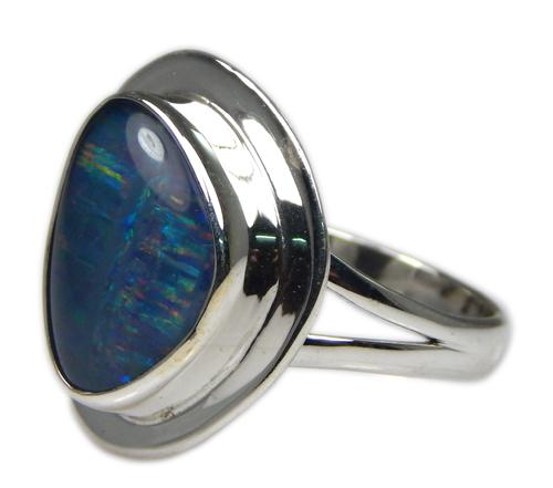 Design 21222: multi-color opal rings