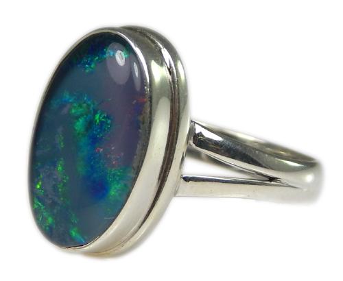 Design 21223: multi-color opal rings