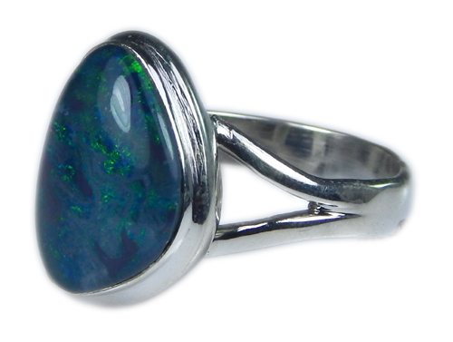 Design 21226: multi-color opal rings