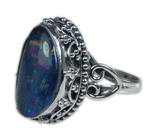 Design 21230: multi-color opal rings