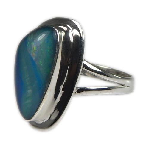 Design 21232: multi-color opal rings