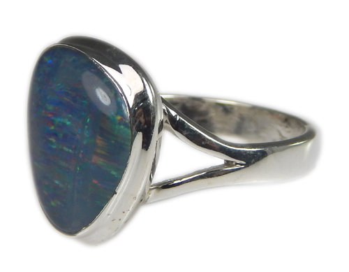 Design 21233: multi-color opal rings