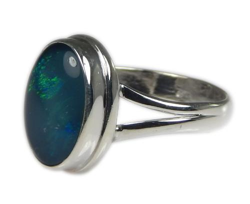 Design 21234: multi-color opal rings