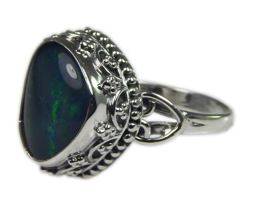 Design 21237: multi-color opal rings