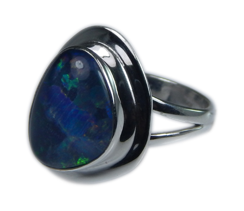 Design 21242: multi-color opal rings