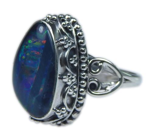 Design 21248: multi-color opal rings
