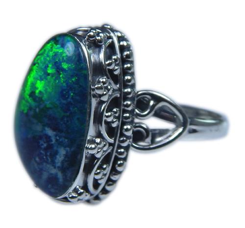 Design 21249: multi-color opal rings