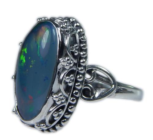 Design 21250: multi-color opal rings