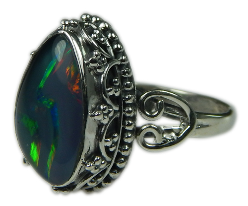 Design 21251: multi-color opal rings