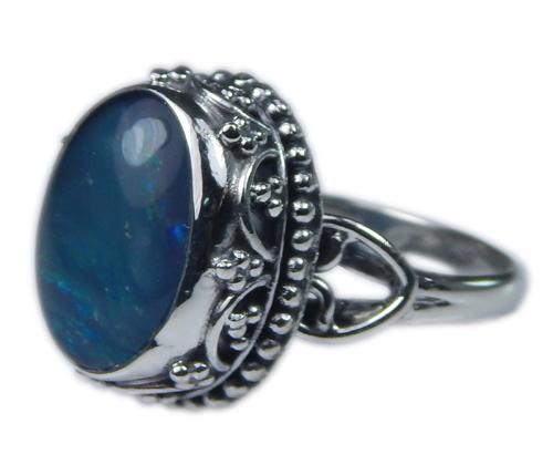 Design 21252: multi-color opal rings