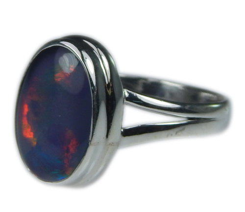Design 21255: multi-color opal rings