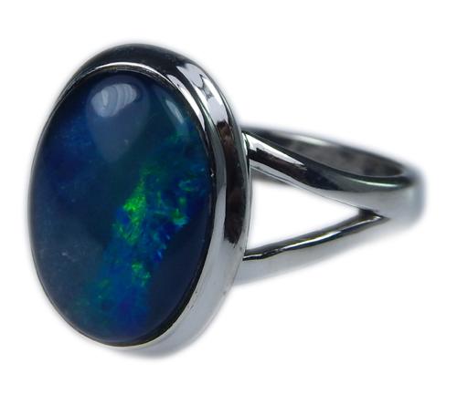Design 21257: multi-color opal rings