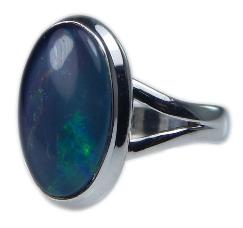 Design 21258: multi-color opal rings