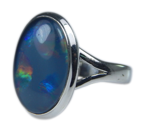 Design 21259: multi-color opal rings