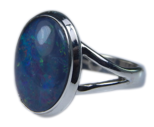 Design 21266: multi-color opal rings