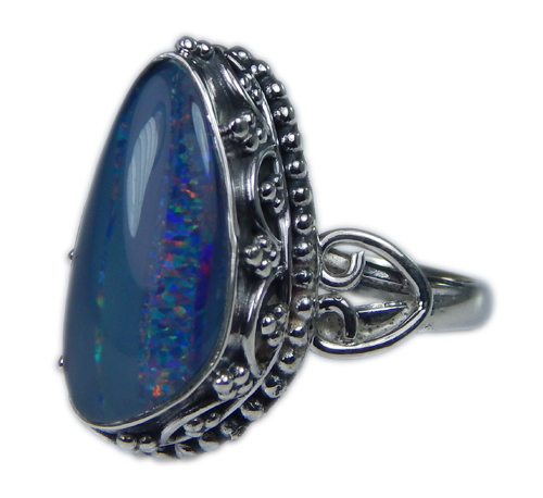 Design 21267: multi-color opal rings