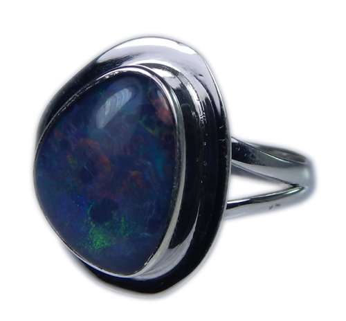 Design 21269: multi-color opal rings
