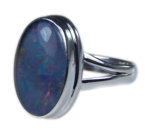 Design 21272: multi-color opal rings