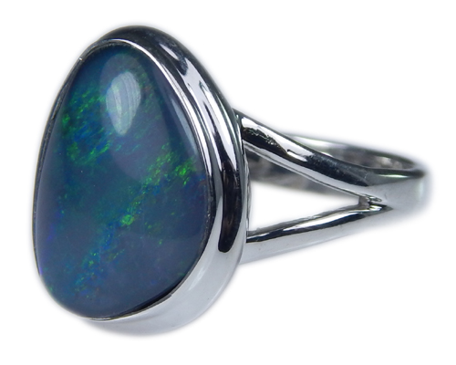 Design 21273: multi-color opal rings