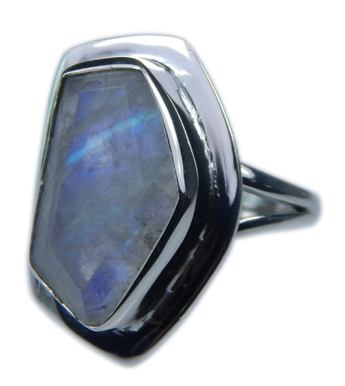 Design 21335: blue,white moonstone rings