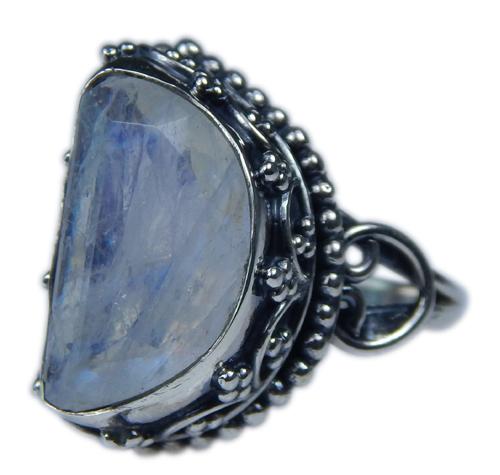 Design 21341: blue,white moonstone rings