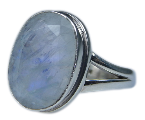 Design 21343: blue,white moonstone rings