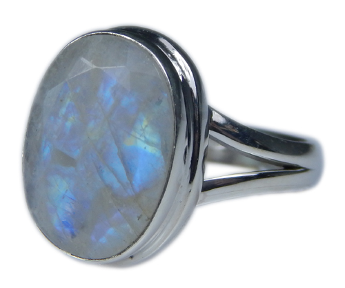 Design 21344: blue,white moonstone rings
