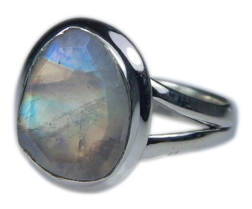 Design 21345: blue,white moonstone rings