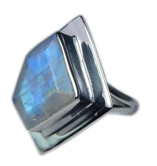 Design 21347: blue,white moonstone rings