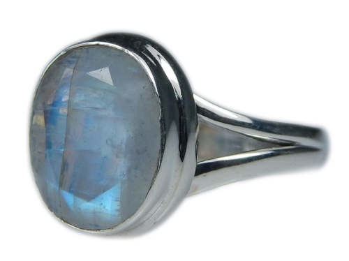 Design 21352: blue,white moonstone rings