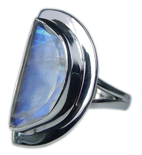 Design 21353: blue,white moonstone rings