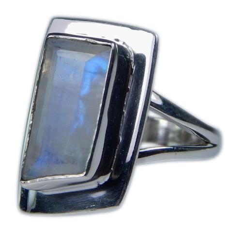 Design 21354: blue,white moonstone rings