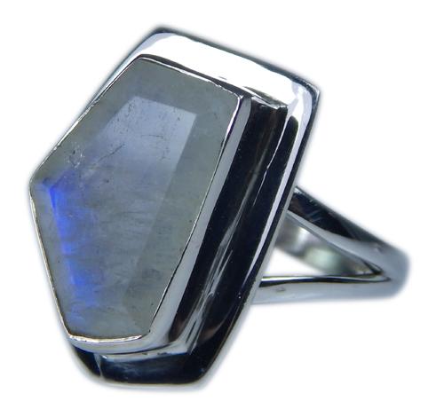 Design 21355: blue,white moonstone rings