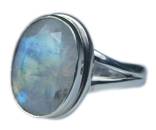 Design 21356: blue,white moonstone rings