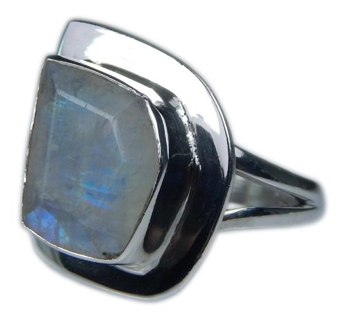 Design 21357: blue,white moonstone rings