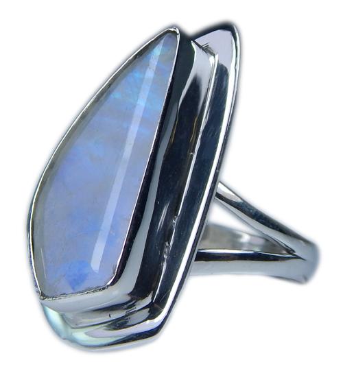 Design 21358: blue,white moonstone rings