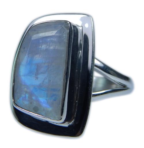 Design 21359: blue,white moonstone rings