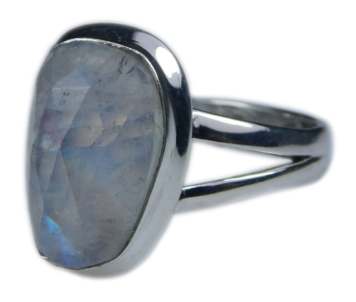 Design 21363: blue,white moonstone rings