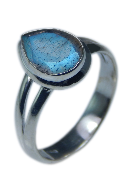 Design 21554: blue,gray labradorite rings