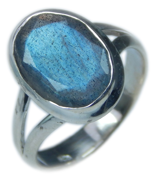 Design 21571: blue,gray labradorite rings