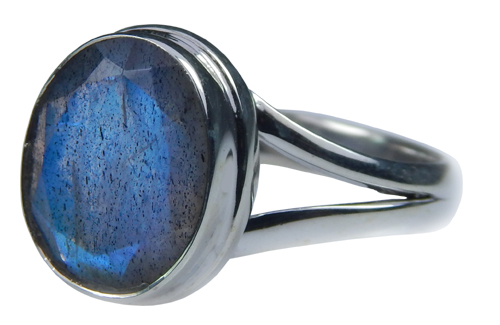 Design 21572: blue,gray labradorite rings