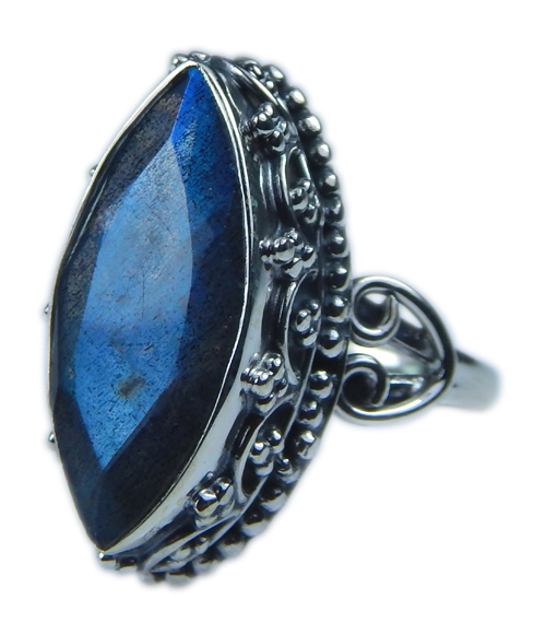 Design 21577: blue,gray labradorite rings