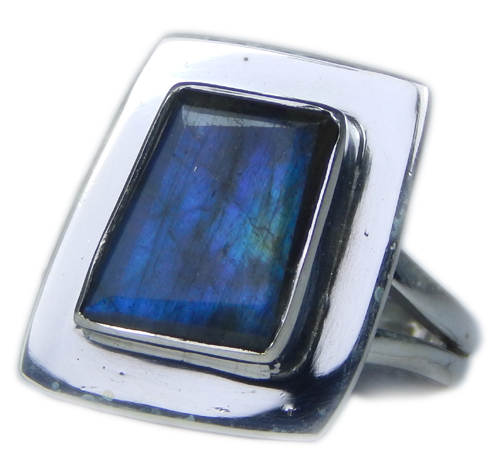 Design 21578: blue,gray labradorite rings