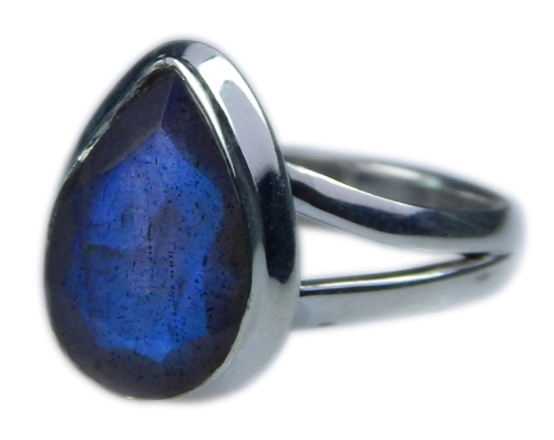 Design 21579: blue,gray labradorite rings
