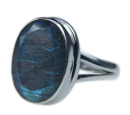 Design 21581: blue,gray labradorite rings