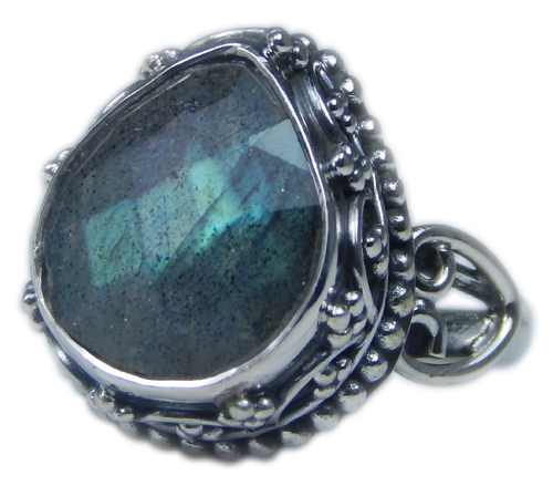 Design 21584: blue,gray labradorite rings
