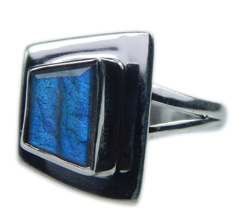 Design 21585: blue,gray labradorite rings