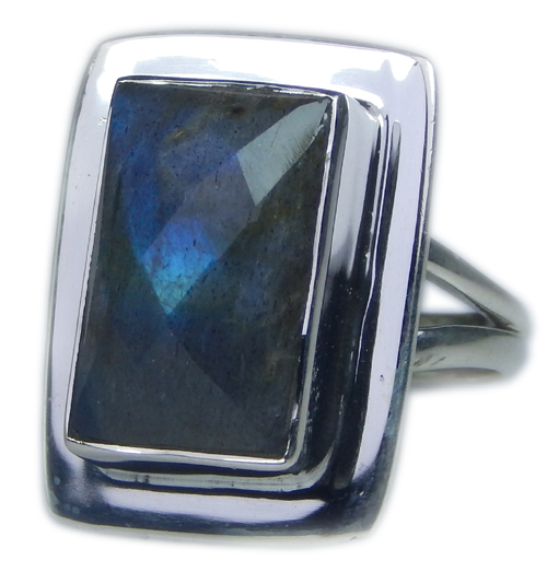 Design 21586: blue,gray,yellow labradorite rings
