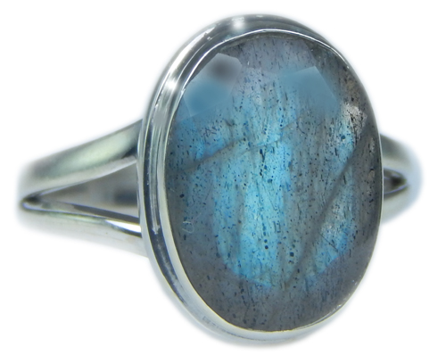 Design 21587: blue,gray labradorite rings